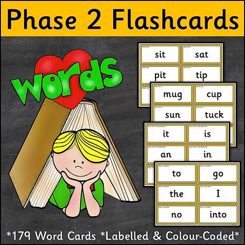 Phase 2 Word Flashcards