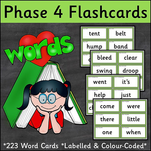 Phase 4 Word Flashcards