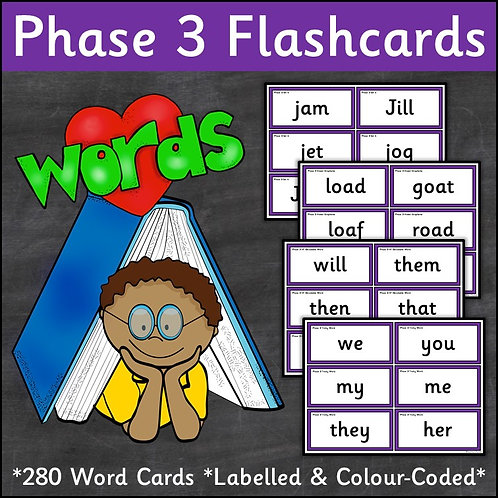 Phase 3 Word Flashcards