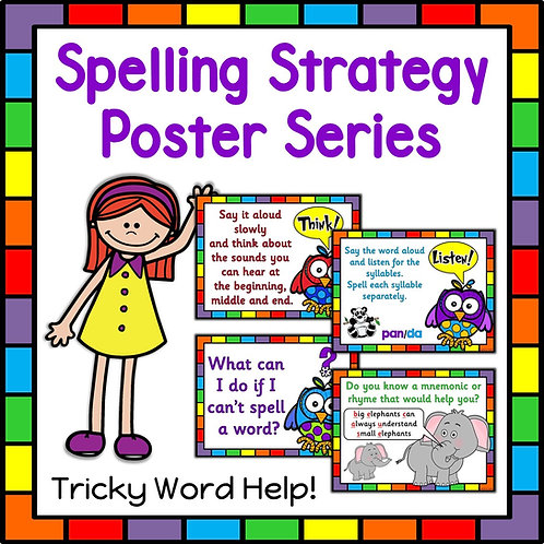 Spelling Strategy Reference Posters