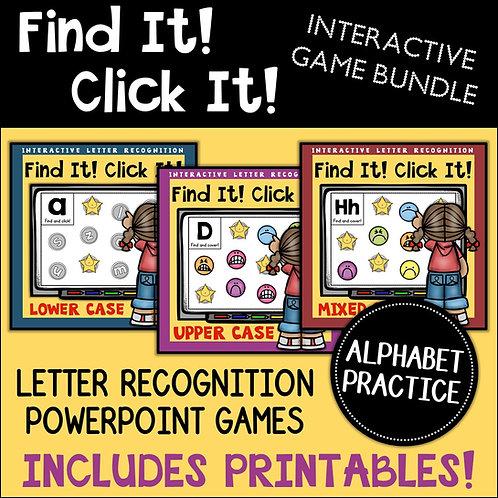 Alphabet: Letter Recognition PowerPoint Game Bundle