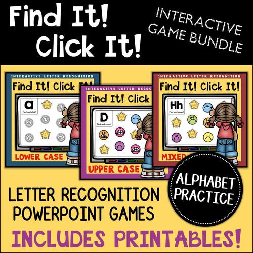 graphic relating to Letter Recognition Games Printable known as Alphabet: Letter Level of popularity PowerPoint Recreation Offer