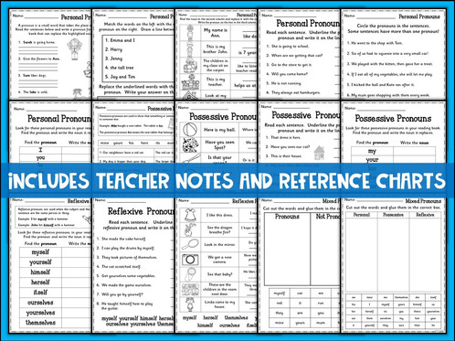 SPAG Revision: Pronouns Practice Worksheets | Teachers Toolkit ...