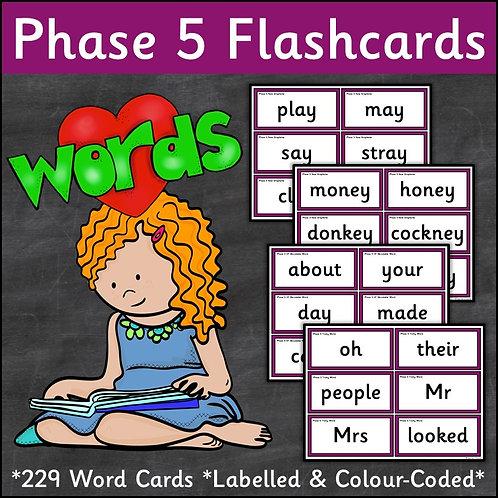Phase 5 Word Flashcards