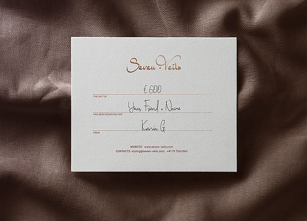 gift certificate image consultant