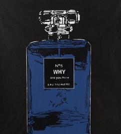 Triptychon: number 5 blue