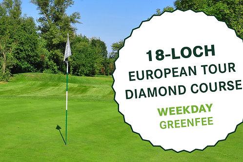 18-Loch European Tour Diamond Course (Weekday Greenfee)