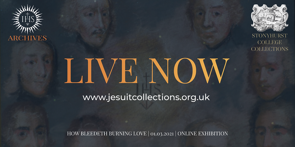 Heading: Live now with url address below: www.jesuitcollections.org.uk