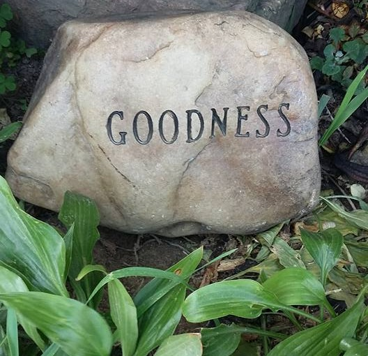 Goodness Engraved Stone
