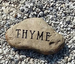 Thyme Engraved Flat Creek Rock
