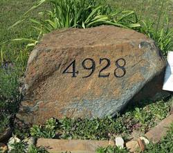 House Number Boulder