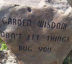 Garden Wisdom Engraved Round Stone
