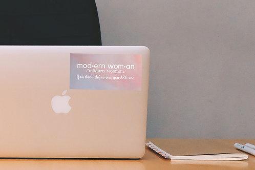"Modern Woman Definition 6"" x 3"" Sticker"