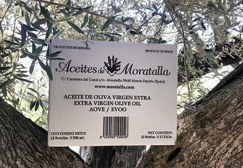 Caja de 12 - Aceite de Oliva Virgen Extra Flor de Cuquillo 500 cc.
