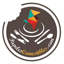 Logotipo papeles comestibles circulo mar