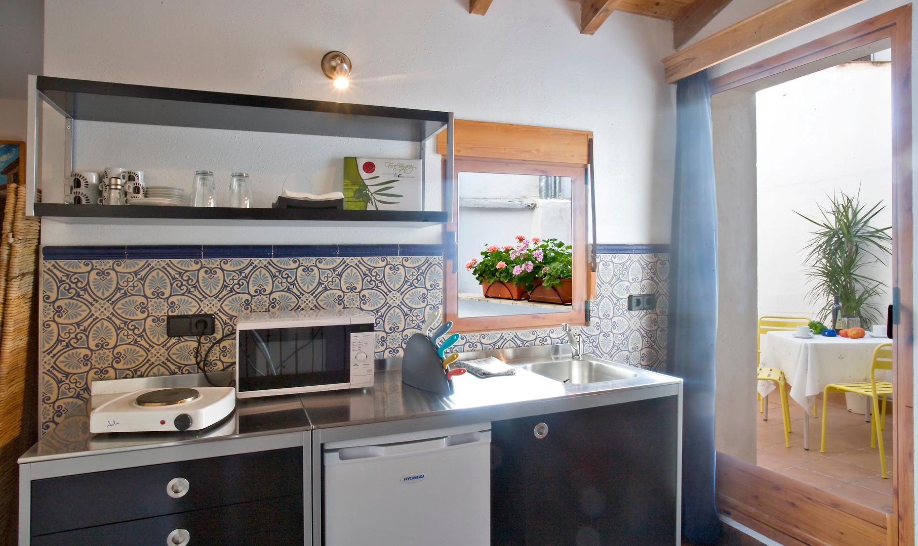 Cocina y terraza Casa 2