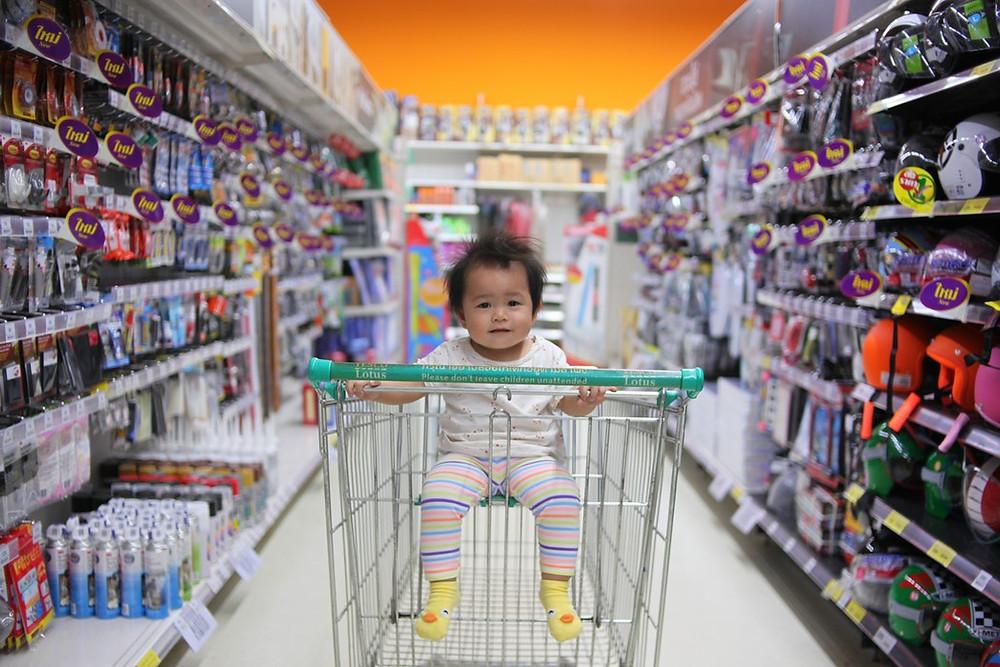 Shopping mit Baby
