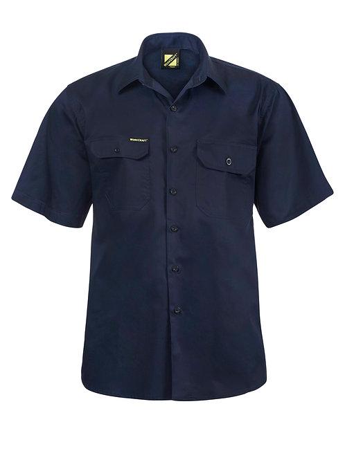 Workcraft Lightweight Short Sleeve Vented Cotton Drill Shirt