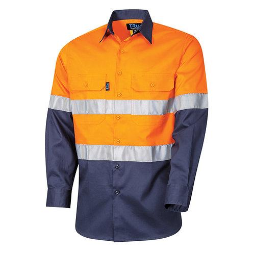 TRu Lightweight Drill Hi-Vis shirt