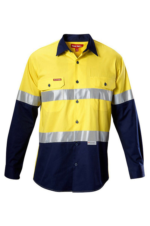 Koolgear Hi-Vis two tone taped Drill shirt with Ventilation