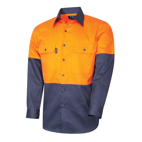 TRu Workwear regular weight Hi-vis shirt