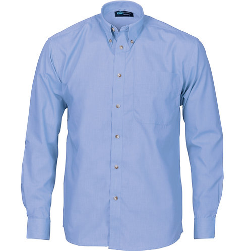 DNC Polyester Cotton Chambray Business Shirt  Long Sleeve