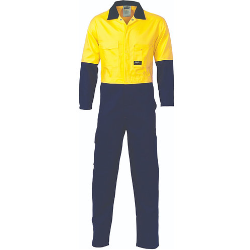 DNC Workwear HiVis Two Tone Cotton Coverall