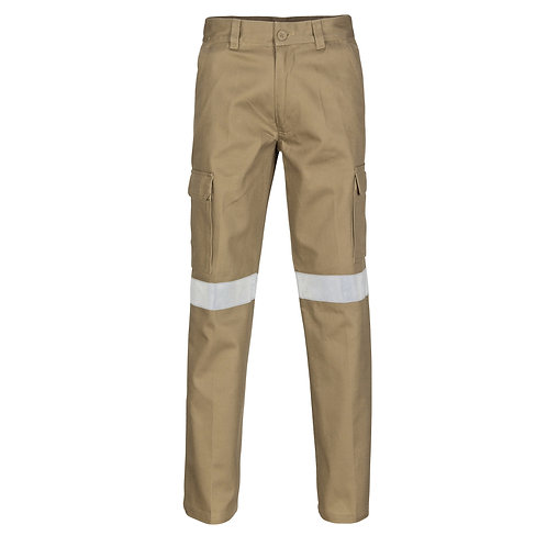 DNC Cotton Drill Cargo Pants With 3M R/Tape