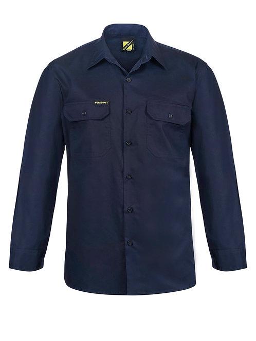 Workcraft  Lightweight Long Sleeve Vented Cotton Drill Shirt