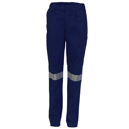 DNC Ladies Cotton Drill Pants With 3M Reflective Tape (3328)