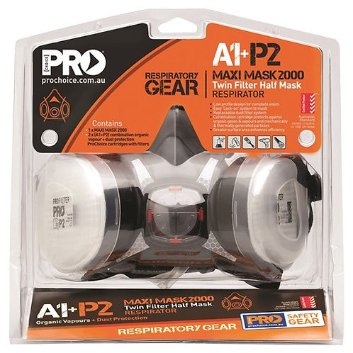 Pro Choice Assembled Half Mask With A1P2 Cartridges