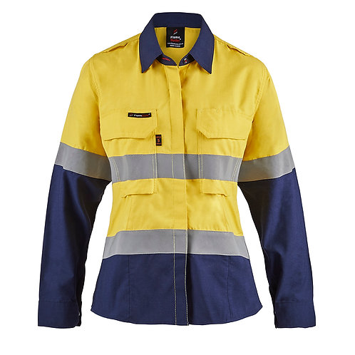 Flamebuster Ladies PPE2 Two Tone shirt with Reflective tape