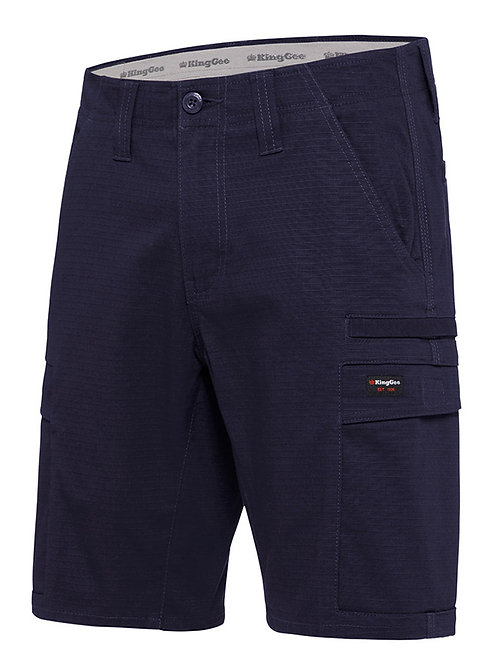 King Gee Workcool Ripstop Pro shorts. 98% Cotton Ripstop, 2% elastane,