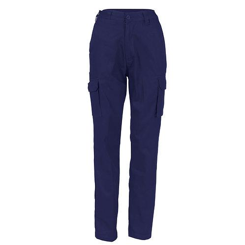 DNC Ladies Cotton Drill Cargo Pants (3322)