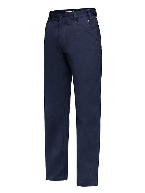 King Gee Cotton Drill plain front trousers