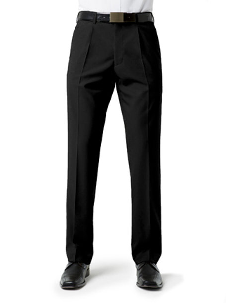 Biz Collection Men's Classic Pleat pant