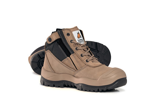 Zip sided Safety Boot with Scuff toe