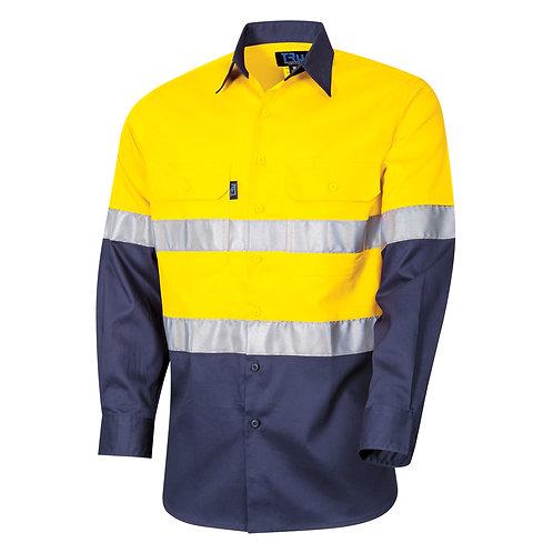 TRu Regular weight Hi-Vis cotton Drill shirt