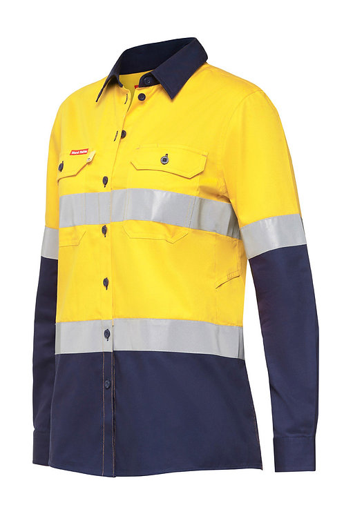Yakka Womens Koolgear Hi-vis shirt taped with Ventilation