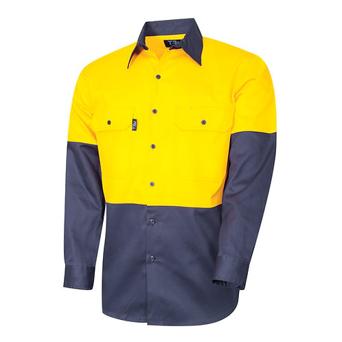 TRu Lightweight vented two tone shirt L/SL