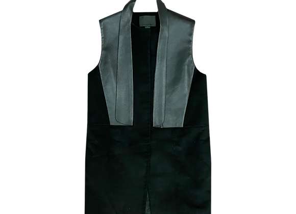 Archive Alexander Wang Leather Lapel Sleeveless Blazer