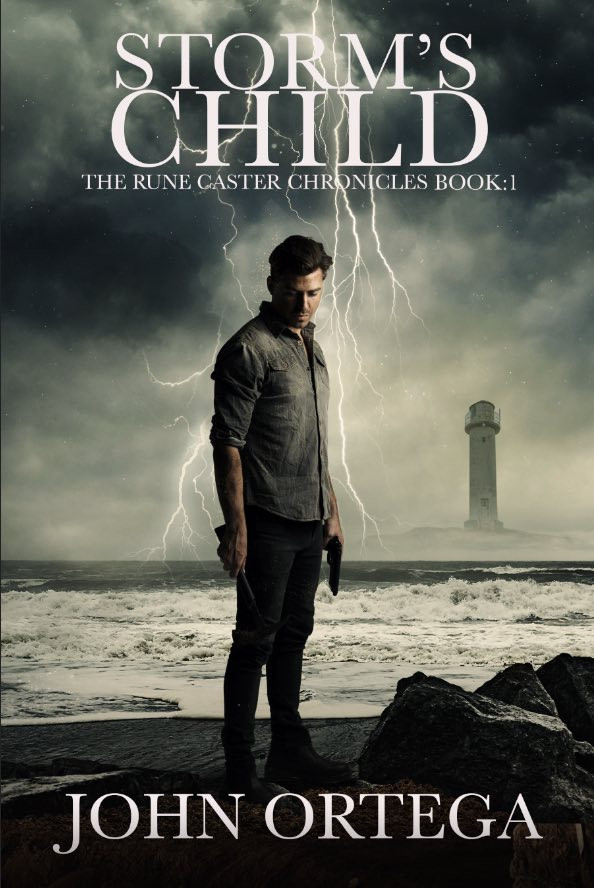 the cover of storm's child by john ortega
