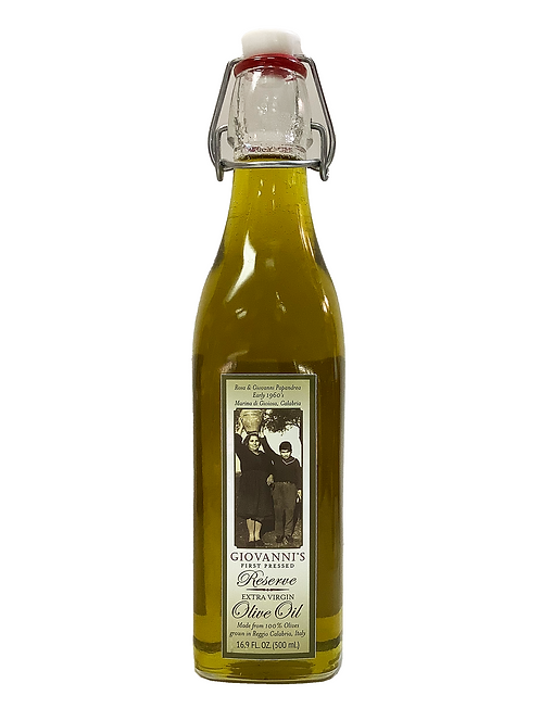Giovanni's Reserve First Cold Pressed Extra Virgin Olive Oil  16.9 oz/ .5 ltr