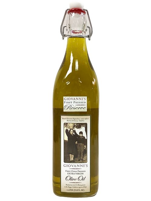 Giovanni's Reserve First Cold Pressed Extra Virgin Olive Oil  8.5 oz.