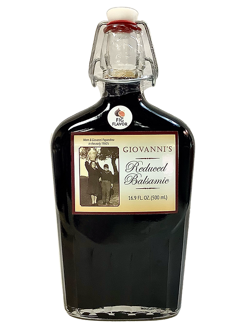 Giovanni's Reduced Balsamic Fig Flavor 16.9 oz/ .5 ltr Flask