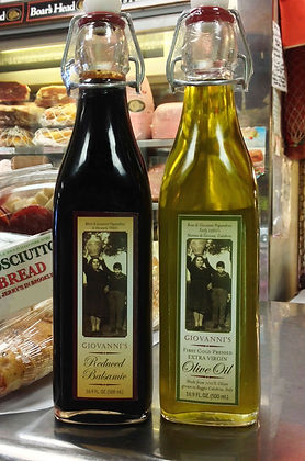 Giovanni's Reduced Balsmic and Calabrese Olive Ol