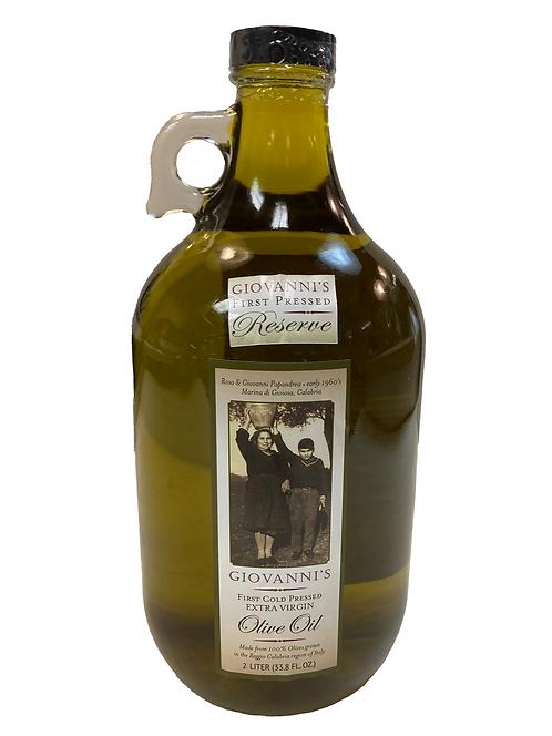 Giovanni's Reserve First Cold Pressed Extra Virgin Olive Oil   67.6 oz/2 ltr Jug