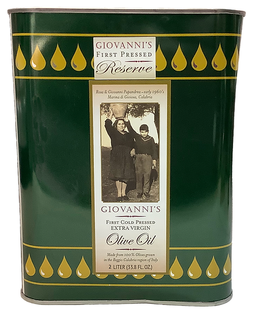 Giovanni's Reserve First Cold Pressed Extra Virgin Olive Oil  67.6 oz /2 ltr tin