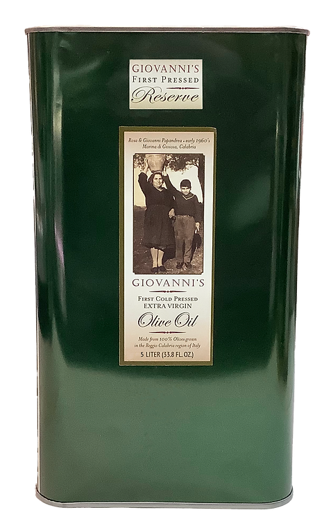 Giovanni's Reserve First Pressed Olive Oil  101.4oz /3 ltr tin