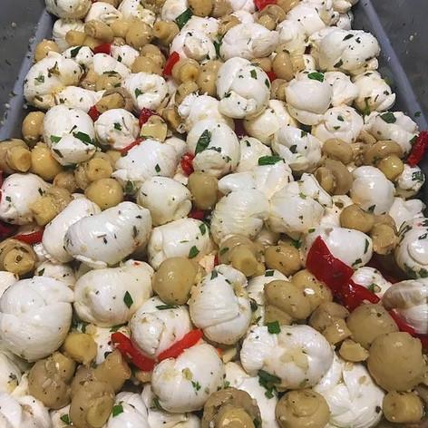 marinated fresh mozzarella and mushrooms